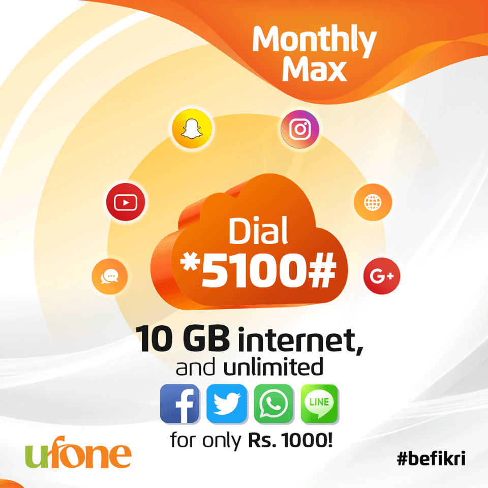 Ufone Monthly Max Package – Whole Month Tension Free