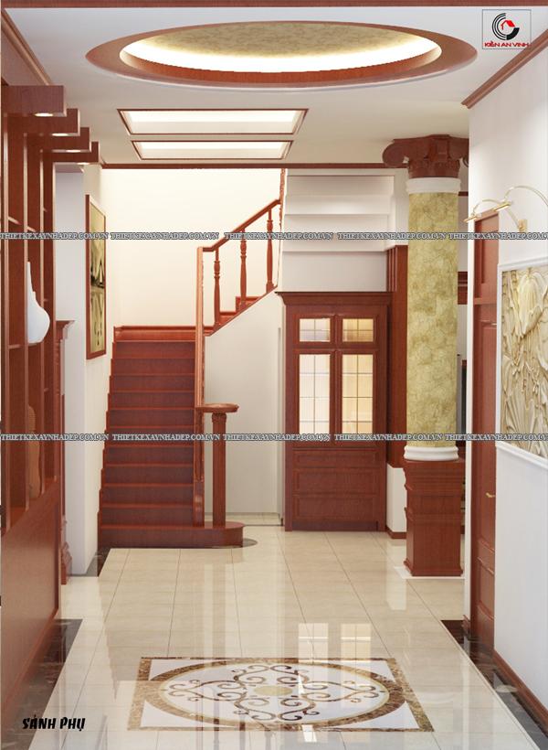 Mẫu thiết kế biệt thự nhà vườn 1 tầng đẹp hiện đại dt 150m2 Sanh
