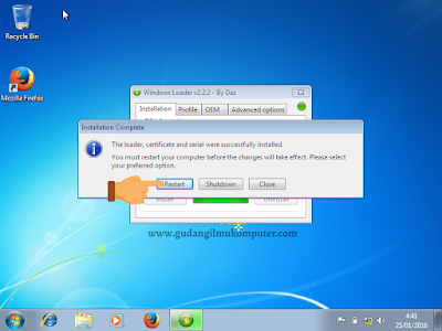 Cara Aktivasi Windows 7 Menggunakan Windows Loader