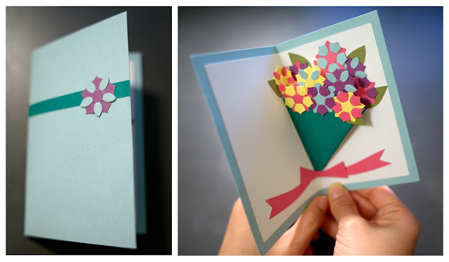 Paper And Plates: Bouquet Pop-Up Card