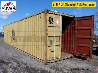 40lık standart ebat yük konteyner