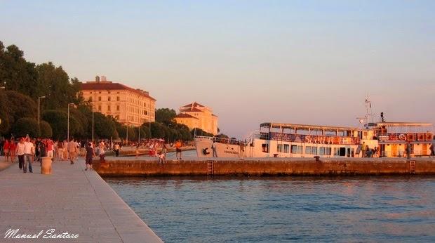 Zadar, tramonto