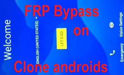 FRP google account reset on clone SPD android phones