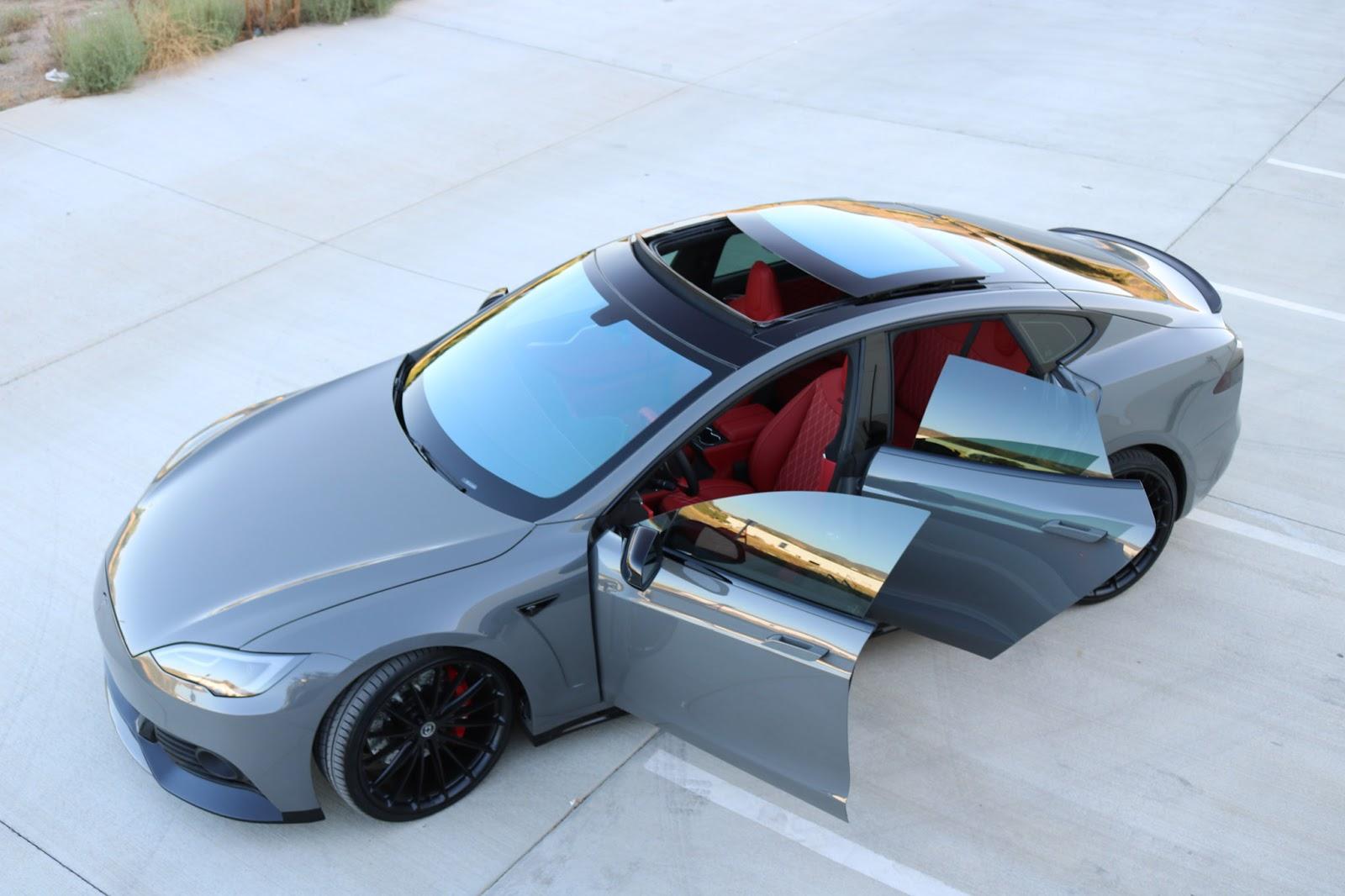 Zero to 60 designs reveals tesla model s bodykit for Nardo grey paint cost