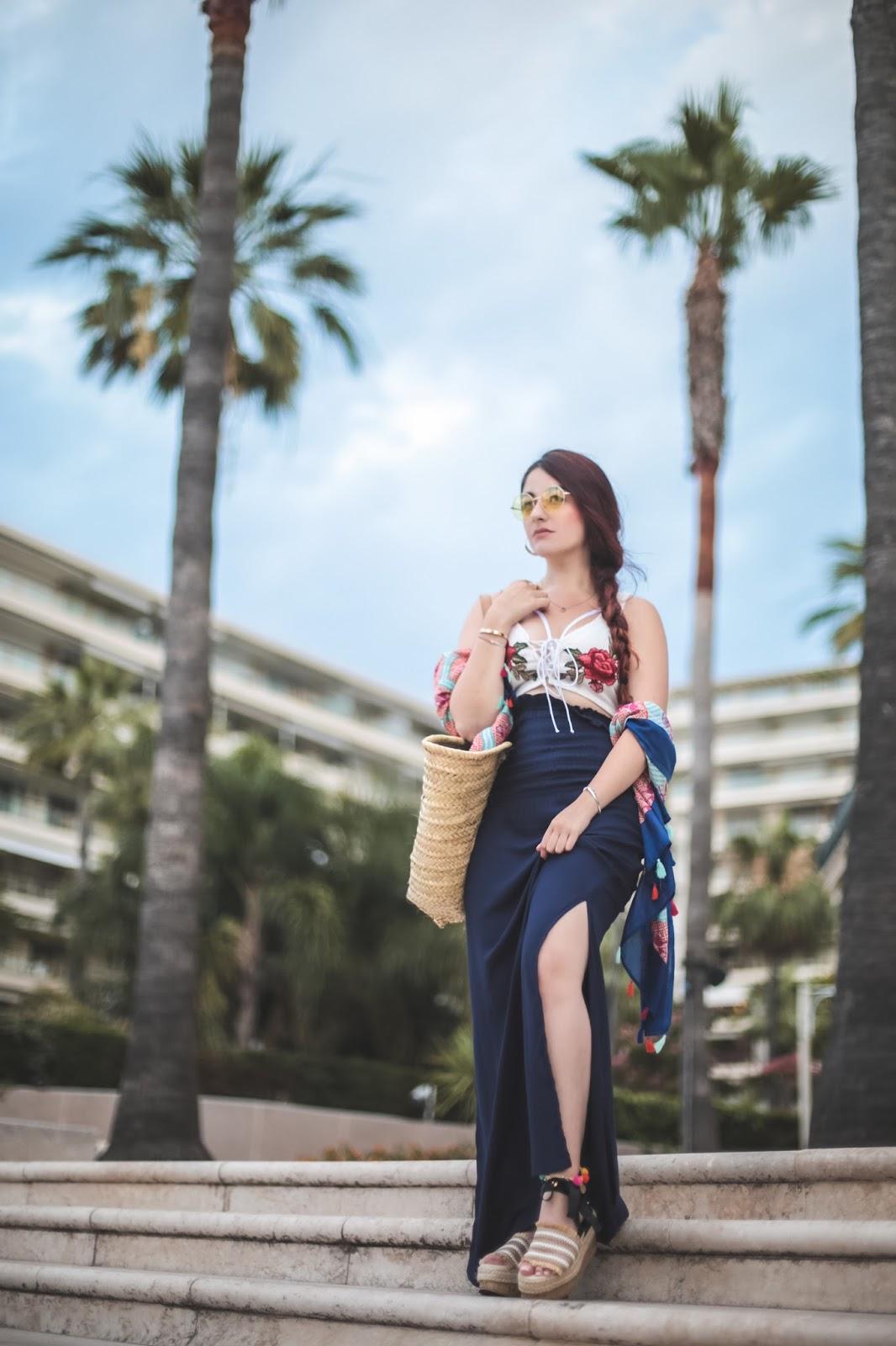 jupe longue fendue blog mode