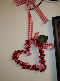 Valentine Wreath Reusing Christmas Decorations