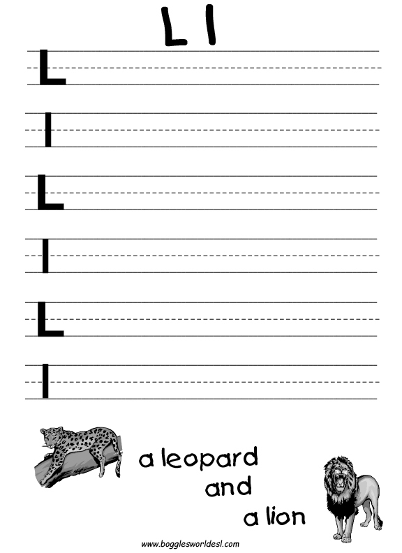 letter l worksheets learning the letter l 710