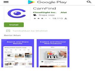 Aplikasi CamFind untuk mengetahui detail penjelasan riwayat sebuah benda