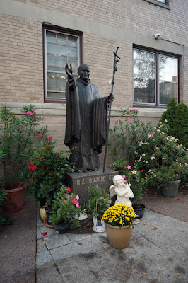 Photo of bronze sculpture of Karol Cardinal Wojtyla also known as Pope John Paul the second