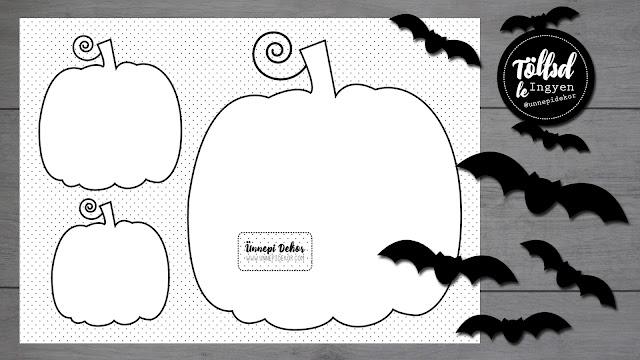 Halloween dekoráció tök sablon