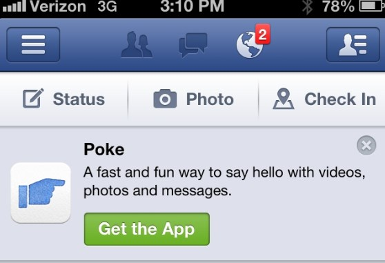 how to view pokes on facebook app