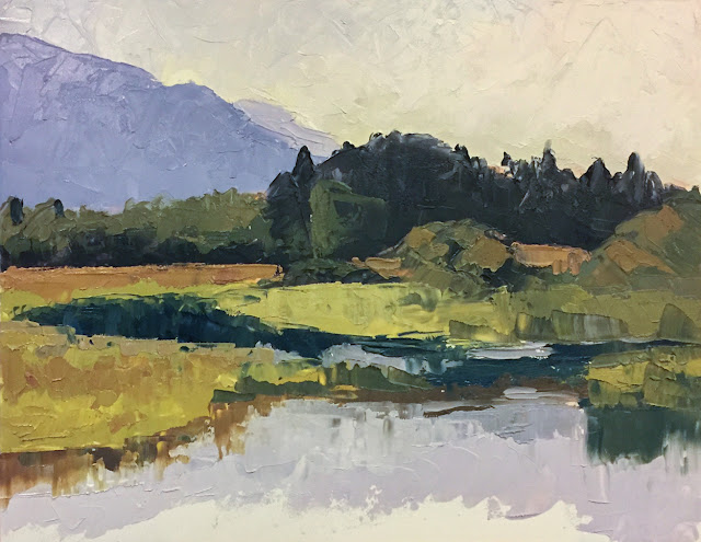 Loose and Lively Landscapes with a palette knife workshop painting Nov 8 2018