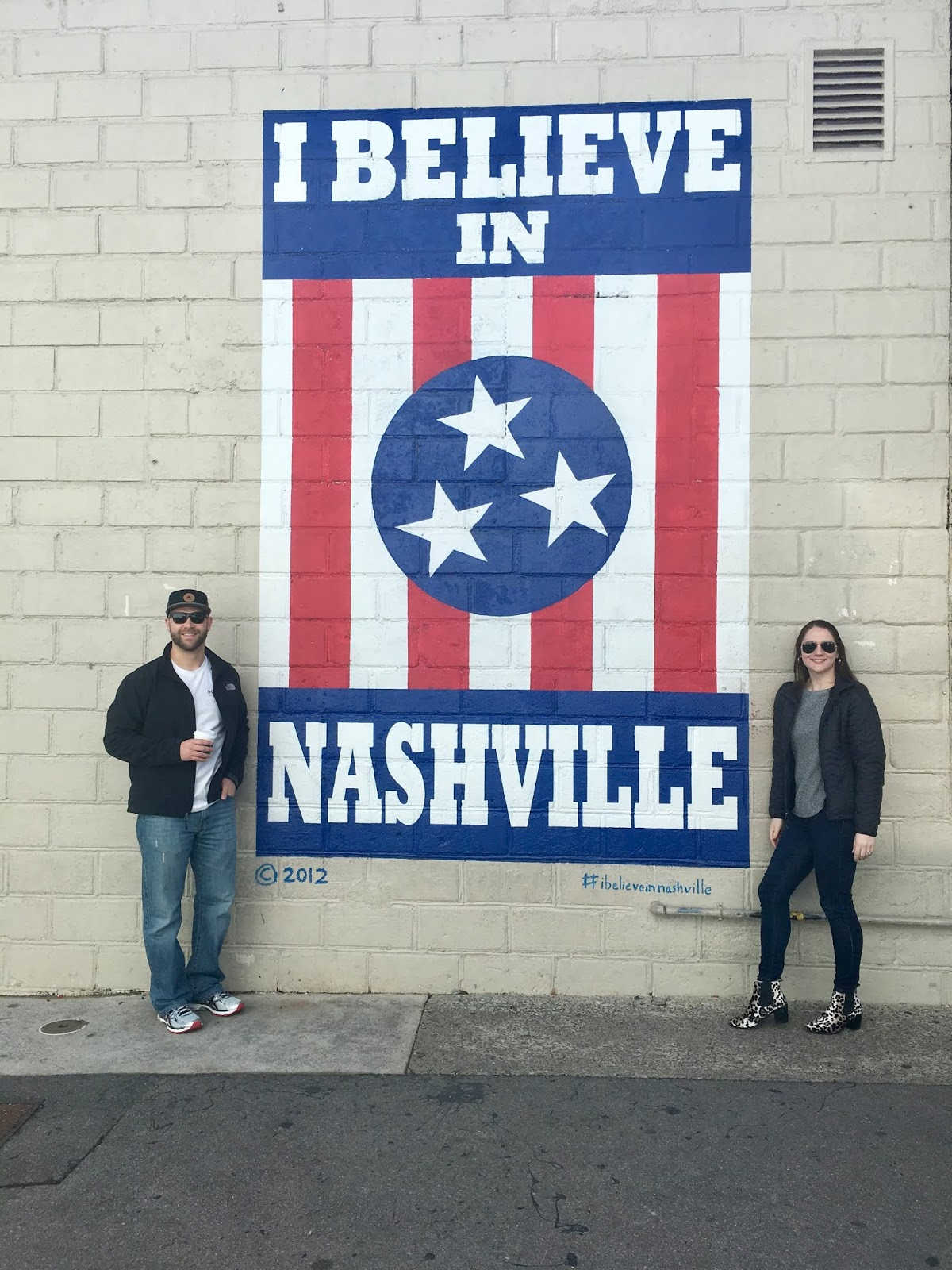 I believe in Nashville Mural | Where is the I Believe in Nashville Mural | Must Dos for your Trip to Nashville | A weekend in Nashville | A Memory of Us