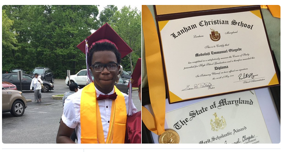 Mobolaji Emmanuel Ologede graduates in the US