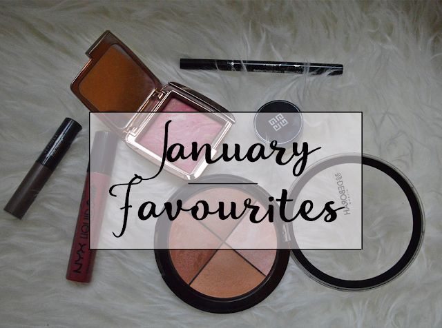 Preferiti di Gennaio con Liquid Suede Cream Nyx Soft-Spoke, Brow Thickerner di Sephora, Ambient Lighting Blush Luminous Flush di Hourglass, Contouring palette di Deborah Milano