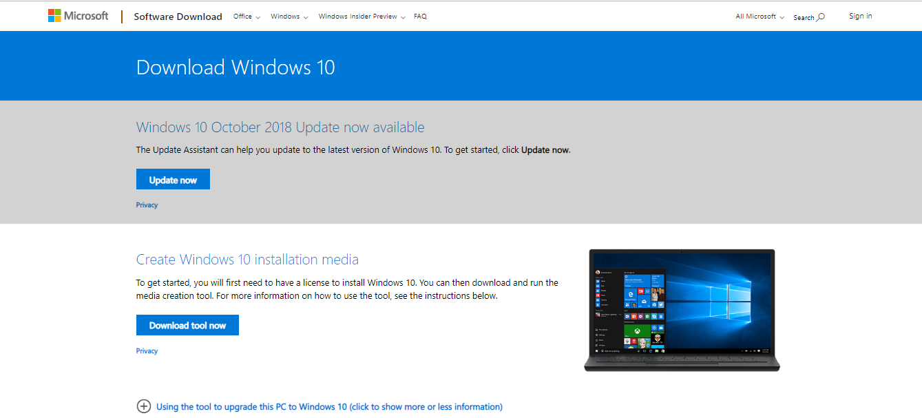 Cara DOWNLOAD File ISO Windows 10 # April 2019 - AkoM