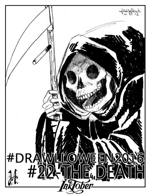 death-drawlloween-inktober-lucyowlart