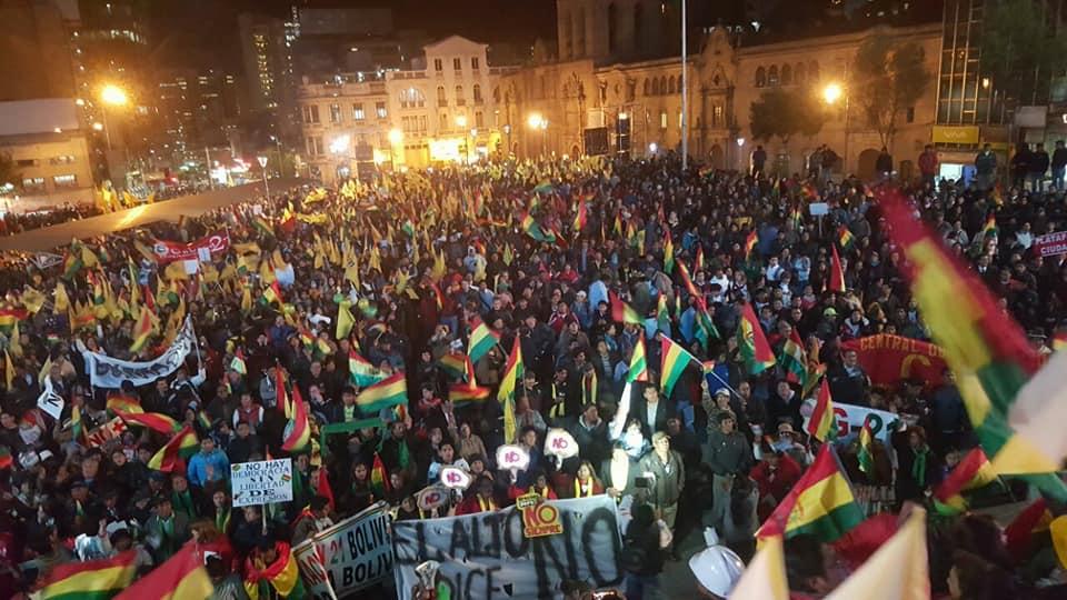Nuevamente San Francisco fue escenario para que la población exprese su sentir democrático