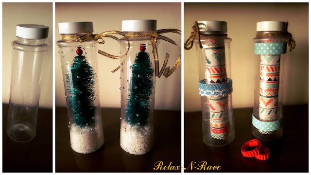 recycle bottle art christmas