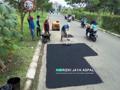Jasa Aspal hotmix, jasa pengaspalan, jasa perbaikan jalan, pemasangan paving block, jabodetabek
