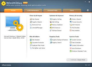 WinUtilities Pro Full Lifetime Key lisans anahtari etkinlestirme kodu