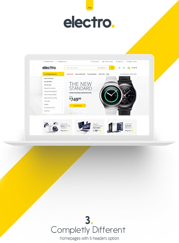Electro Electronic eCommerce PSD