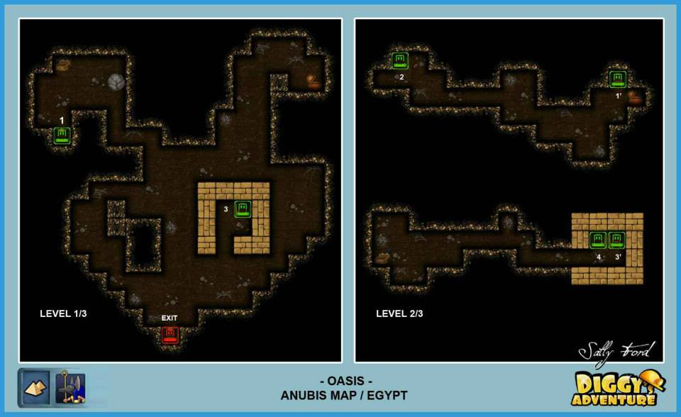 Diggy's Adventure Walkthrough: Anubis Egypt Quests / Oasis