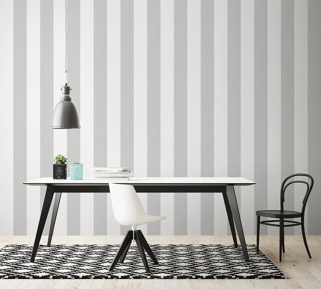 Papel pintado papel pintado rayas for Papel pintado blanco