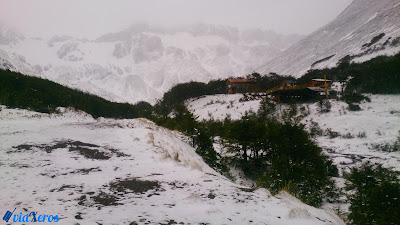 Subida glaciar Martial