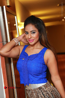 Telugu Actress Srilekha Reddy Latest HD Pos in Sleeveless Blue Top at Muse Art Gallery  0054.JPG