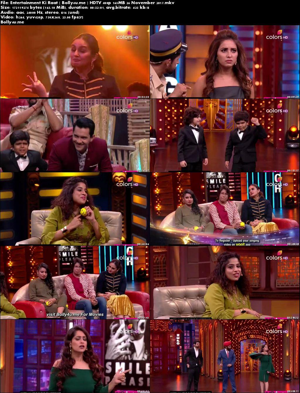 Entertainment Ki Raat HDTV 480p 160MB 26 November 2017 Download
