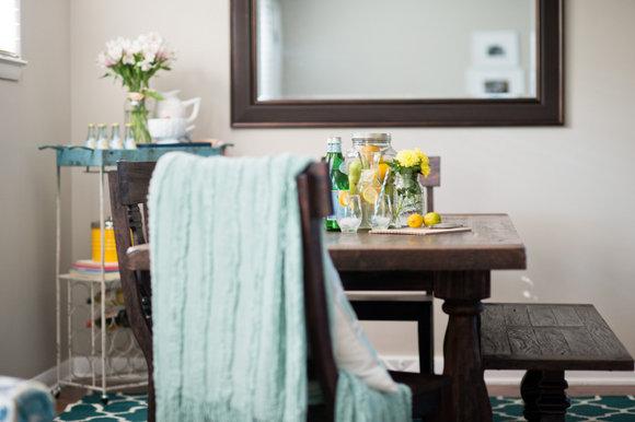 Dining Room HomeGoods Blue Rug
