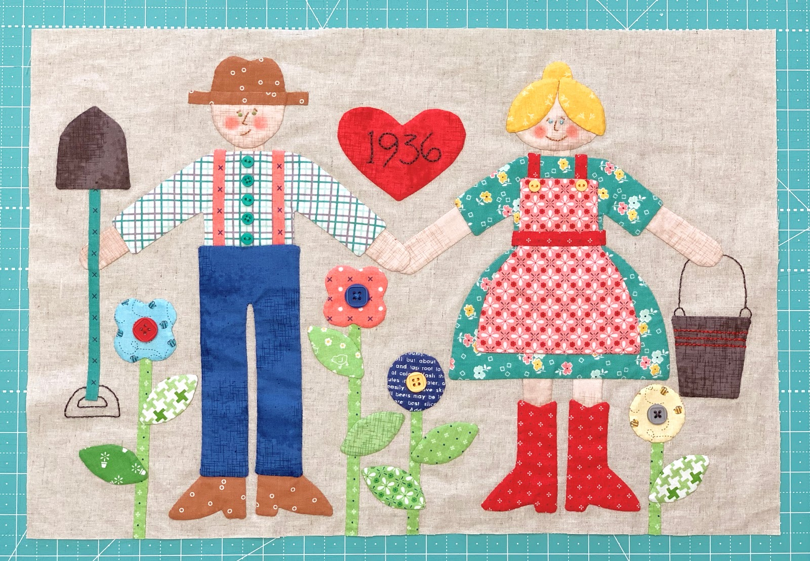 Bee In My Bonnet Farm Sweet Farm Sew Along Week Eight Mr And Mrs Farmer Block