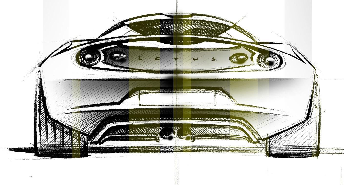Sketsa Mobil Lotus Evora 2008