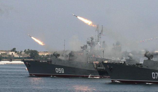 Angkatan Laut Rusia menembakkan rudal