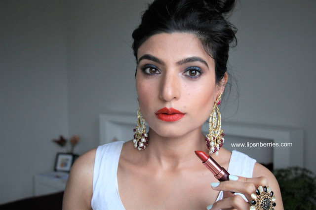 Karen murrell fiery ruby lipstick review