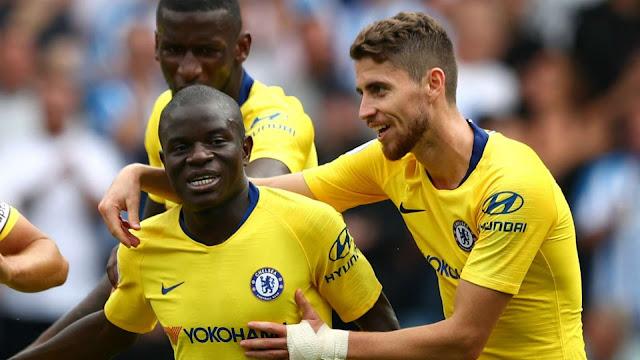 Chelsea win over Huddersfield .. Kante & joginho