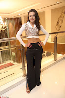 Catherine Tresa in a White Glittering Crop Top Black Leggings  Exclusive 037.JPG