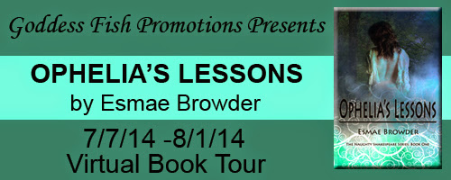 An Interview With Esmae Browder And Ophelia's Lessons #eroticromance #contest #booktour