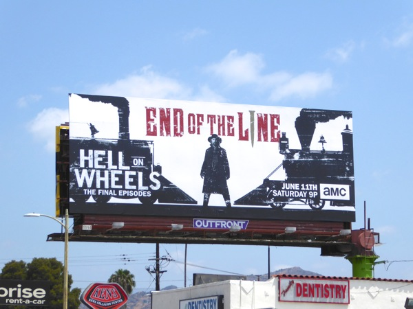 Hell on Wheels final episodes billboard