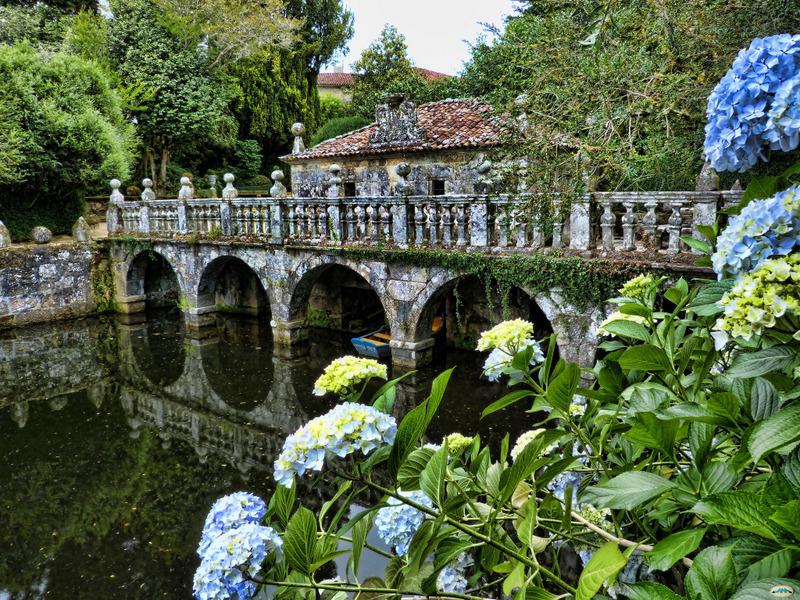 los pazos gallegos jardines del pazo de oca