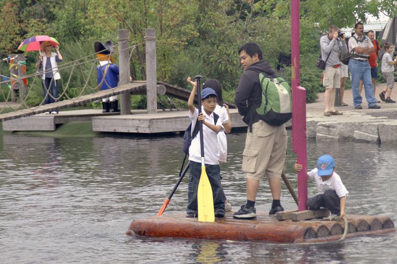 Log raft @Playmobil Funpark