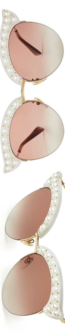 GUCCI  Embellished Cat Eye Sunglasses
