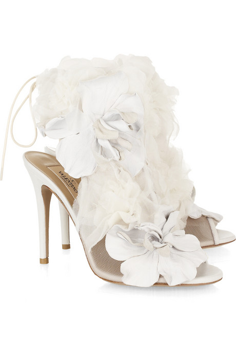 Women S High Heel Shoes Valentino Leather And Tulle