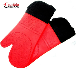 Enter the Crucible Cookware Silicone Oven Mitt Giveaway. Ends 3/21