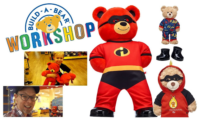 Build-A-Bear Incredibles 2 Red Bear Collage