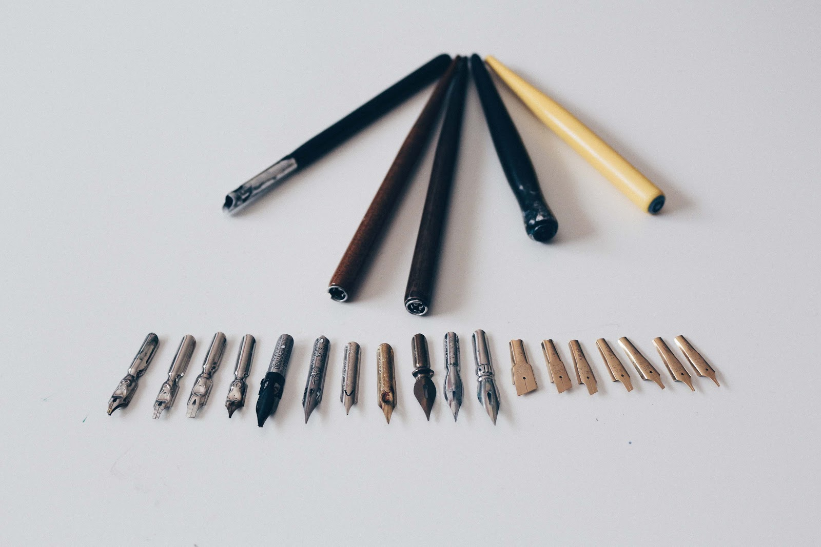 nibs and nib holders for calligraphy