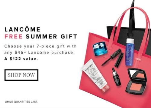 Hudson's Bay Lancome Free Summer Gift
