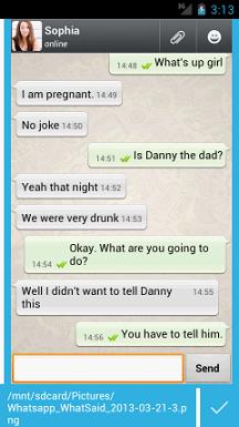 Madison : Fake text message app whatsapp