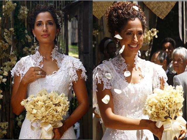 vestido de noiva camila pitanga lado a lado